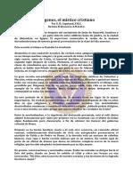 Origenes, El Mistico Cristiano - Jul51 - E. R. Copeland, F.R.C.