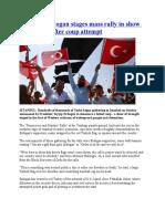 Erdogan Stages Rally