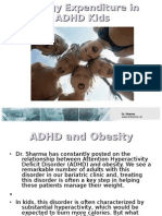Energy Expenditure in ADHD Kids