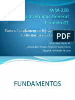 IWM-220 Parte 1 - Fundamentos Viscosidad Hidrostatica y Analisis Integral