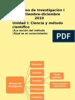 Conocimiento Metodologia y Metodo Cientifico