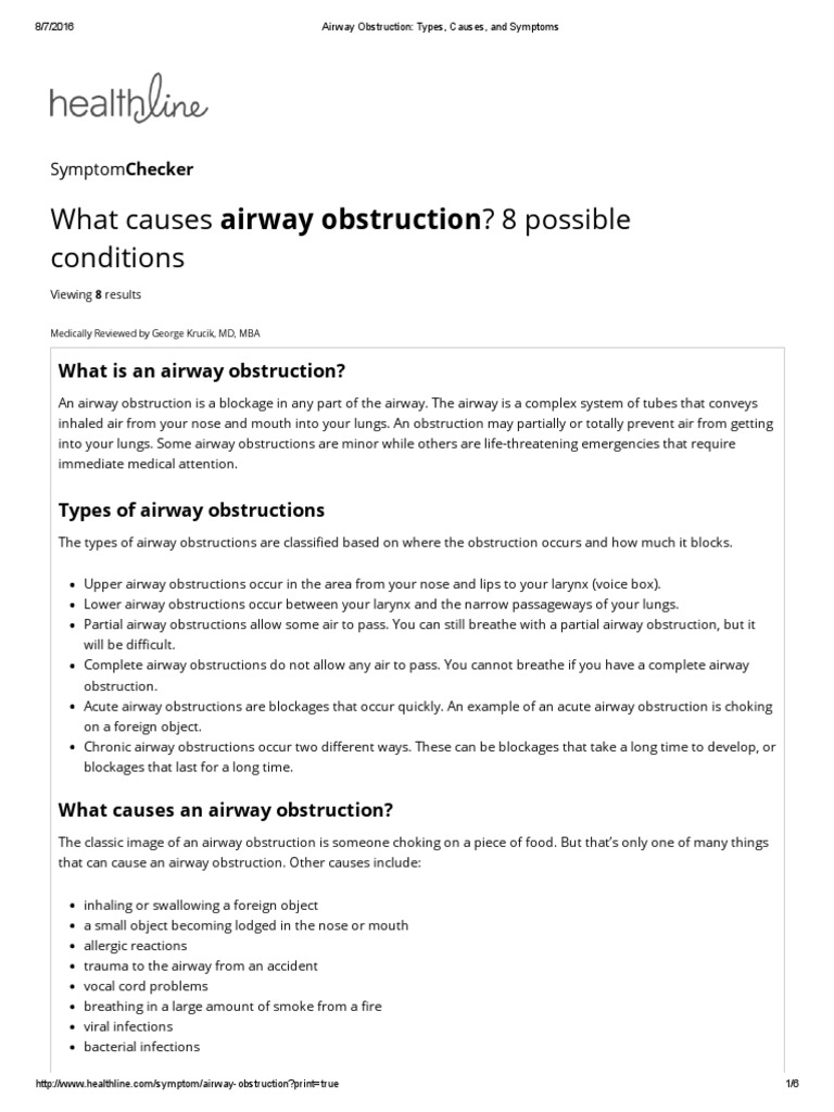 Airway Obstruction_ Types, Causes, And Symptoms