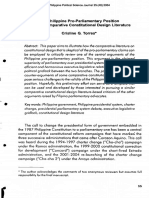 06_The Philippine Pro-Parliamentary Position and the Comparative Constitutional Design Literature