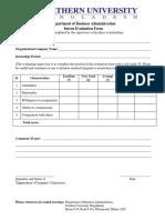 Interns Evaluation