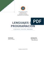 Evolucion y Clasificacion de Los Lenguajes de Programacion