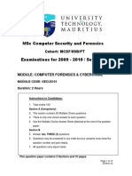 MSc Computer Security and Forensics