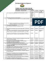 September 2016 Exam Timetable