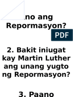 Ano Ang Repormasyon