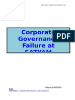Corporate Governance Failure at Satyam