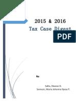 2015-2016 Tax Case Digest
