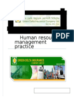 HRM Practice in GDICL