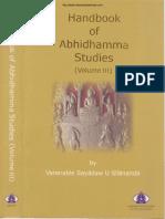328. Ven Dr. Silananda - HandBook of Abhidhamma Studies Vol 3