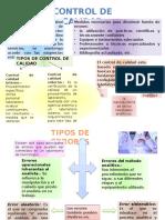 Control de Calidad - Toxicologia