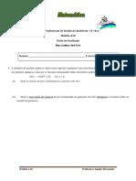 Ficha de Avaliação Módulo A10