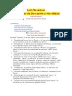 Ledi Sayādaw Manual de Moralidad y Donacion
