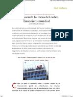 China Sacude La Mesa Del Orden Financiero Mundial, Por Ariel Noyola Rodríguez