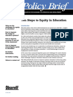 Ten Steps to Equity