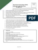 SSMS Phd Applicaiton Form