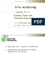 6.1-1 Acidising Types and HSE