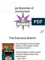 the three branches of government  2