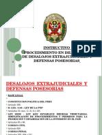 INSTRUCTIVO DESALOJOS EXTRAJUDICIALES Y DEFENSAS POSESORIAS.pptx