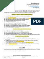 Relação de Documentos Para Admissão - Geral