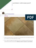Piso de Cerámicos vs Porcelanato