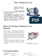 Filtro de Tambor Rotatorio Con Presión