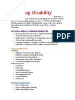 learning disability factsheet