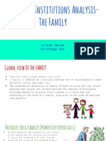 project 2- institutions analysis  the family