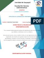 Estructura de la Organización - DEPARTAMENTALIZACIÓN