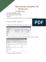 Forzado Permanente de Variables en TIA Portal v12