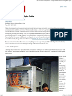 Working With Fiber-Optic Cable