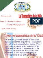 Transmision de La Vida_exponer