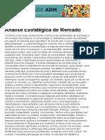 Análise Estratégica de Mercado - Produção Acadêmica - Administradores