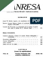 Manresa 1980 10-12. Notas y Comentarios. Sumario.
