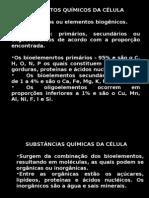 Biologia PPT - Botânica - Elementos Químicos da Célula