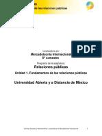 Unidad 1. Fundamentos de Las Relaciones Publicas