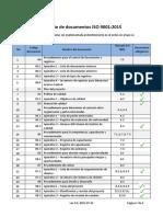 Lista de Documentos ISO 9001