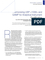 Harmonizing USP 1058 GAMP Pharmaceutical Engineering
