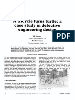 A Tricycle Turns Turtle a Case Study in Defective Engineering Design 1986 Design Studies