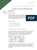 Adicionar Uma Subfolha de Dados - Access