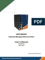 User Manual IGPS-9084GP V3.0