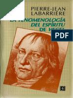 Pierrejean Labarriere La Fenomenologia Del Espiritu de Hegel