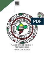 PLAN DE FERIA DE CIENCIAS  Y TECNOLOGIA 2015 word.doc