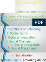 Function of Schooling