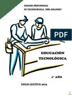 Cuadernillo 1ro Eso Educación Tecnológica 2015