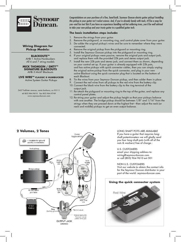 mick thomson seymour duncan blackouts wiring diagram