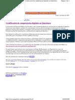 Certificación de competencias digitales en Querétaro, México
