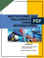 Instituciones Que Reglamentan El Comercio Internacional
